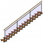 gerade Treppe 3D