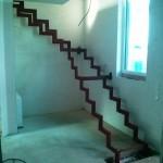 Treppe im Rohbau
